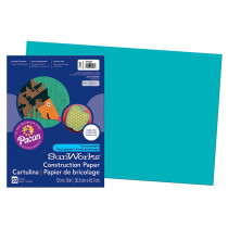 PAC7707 - Construction Paper Turquoise 12X18 in Construction Paper