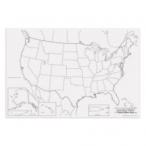 PAC78760 - Giant Us Map 48In X 72In in Maps & Map Skills