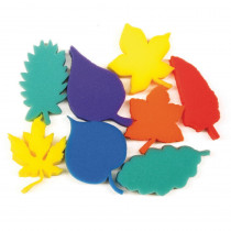 PACAC9077 - Leaf Shape Sponges Asst Of 8 Dip Print in Sponges