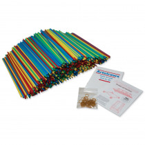 PACAC9230 - 4Mm Colored Artstraws 1800 Count in Art Straws