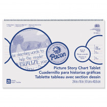 PACMMK07426 - Chart Tablet 24X16 1.5In Ruled Picure Story in Chart Tablets