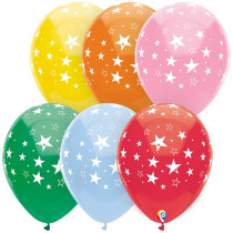 PBN57379 - 12In Stars All Over Balloons 8 Pk in Accessories
