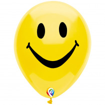 PBN57447 - 12In Smiley Face Balloon 2 Side 8Pk in Accessories