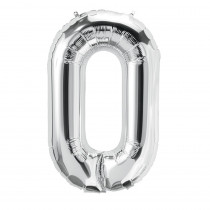 PBN59081 - 16In Foil Balloon Silver Number 0 in Accessories