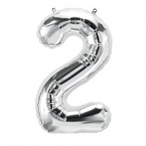 PBN59085 - 16In Foil Balloon Silver Number 2 in Accessories