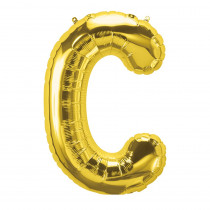 PBN59438 - 16In Foil Balloon Gold Letter C in Accessories
