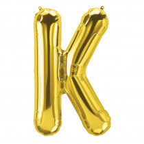 PBN59516 - 16In Foil Balloon Gold Letter K in Accessories