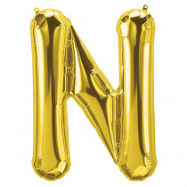 PBN59522 - 16In Foil Balloon Gold Letter N in Accessories
