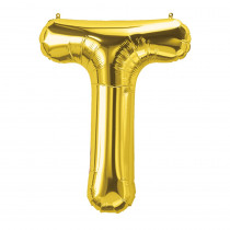 PBN59534 - 16In Foil Balloon Gold Letter T in Accessories