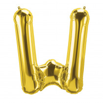 PBN59540 - 16In Foil Balloon Gold Letter W in Accessories