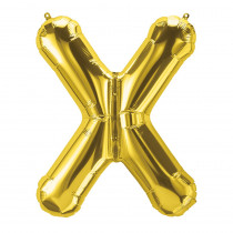 PBN59542 - 16In Foil Balloon Gold Letter X in Accessories