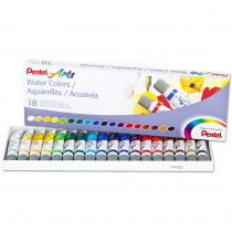 PENWFRS18 - 18 Color Pentel Arts Watercolor Set in Paint