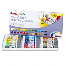 PENWFRS24 - 24 Color Pentel Arts Watercolor Set in Paint