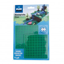 Baseplates, Duo, Set of 2 - PLL05011 | Plus-Plus Usa | Blocks & Construction Play