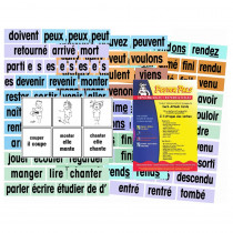 Verb Attack Card Set, French - PSZP155F | Poster Pals | Flash Cards