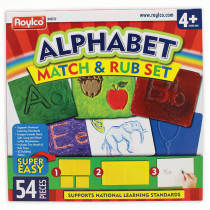 R-48232 - Alphabet Match & Rub Set in Rubbing Plates