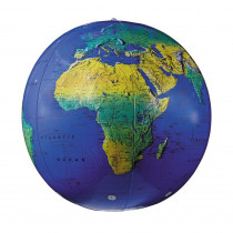 RE-15601 - Inflatable Topographical Globe 12In in Globes