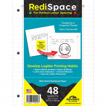 RS-48FP - Redi Space Transitional Notebook Paper 48 Shts in Loose Leaf Paper
