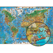 RWPDM002 - Childrens Animals Of The World in Maps & Map Skills