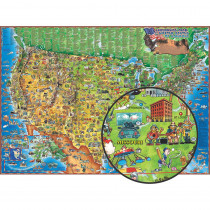RWPDM005 - Childrens Map Of The Usa in Maps & Map Skills