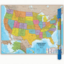 RWPHM02 - Hemispheres Laminated Map United in Maps & Map Skills