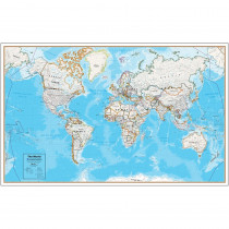 RWPHM08 - Contemp Laminated Wall Map World Hemispheres in Maps & Map Skills