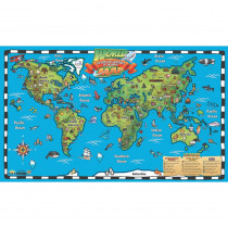 Kid's World Map Interactive Wall Chart with Free App - RWPWC04 | Waypoint Geographic | Social Studies