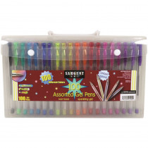 Gel Pens In Case with Handle, 100ct - SAR221495 | Sargent Art  Inc. | Pens