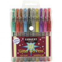 SAR221501 - 10Ct Glitter Gel Pen in Pens
