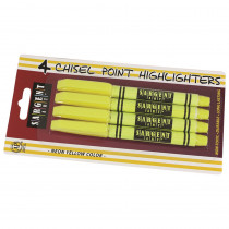 SAR221563 - 4Ct Fine Tip Yellow Highlighter in Highlighters
