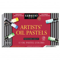 SAR222017 - Sargent 12Ct Regular Oil Pastels in Pastels