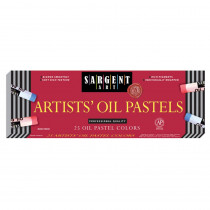 SAR222018 - Sargent 25Ct Regular Oil Pastels in Pastels