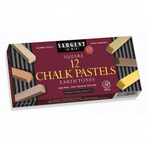 SAR224113 - Sargent Art Sq Chalk 12 Earth Tone Colors Pastels in Chalk