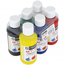 SAR226806 - 6Ct 4Oz Primary Tempera Set W/ Carrier in Paint