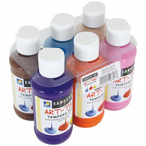 SAR226807 - 6Ct 4Oz Secondary Tempera Set W/ Carrier in Paint