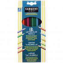 SAR227204 - 12Ct Sargent Watercolor Pencil 7 In in Colored Pencils