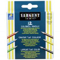 SAR227214 - Sargent Art Half-Sized Colored Pencils 12 Color Set in Colored Pencils