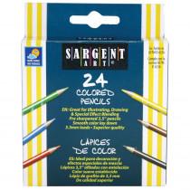 SAR227218 - Sargent Art Half-Sized Colored Pencils 24 Color Set in Colored Pencils