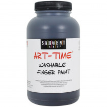 SAR229485 - 16Oz Washable Finger Paint Black in Paint