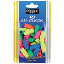 SAR361015 - 40Ct Assorted Color Cap Eraser in Erasers