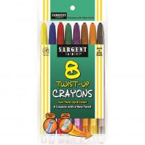 SAR550980 - 8Ct Twist Up Crayon in Crayons