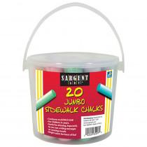 Jumbo Sidewalk Chalk Bucket, 20 Pieces - SAR665097 | Sargent Art  Inc. | Chalk