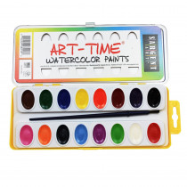 SAR668218 - 16 Art Time Semi Moist Colors W/ Brush in Paint