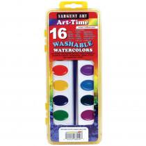 SAR668240 - 16 Art Time Semi Moist Washable Colors W/ Brush in Paint