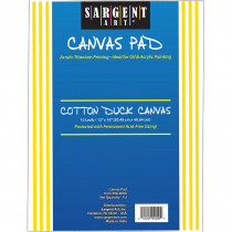 SAR904000 - Sargent Art Canvas Pad 12 X 16 in Canvas