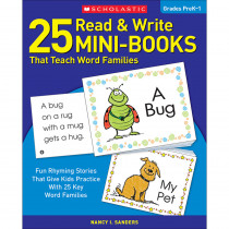 SC-0439155878 - 25 Read & Write Minibooks That Teach Word Families in Word Skills