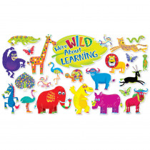 SC-553072 - Jingle Jungle Animals Bulletin Board Set in Classroom Theme