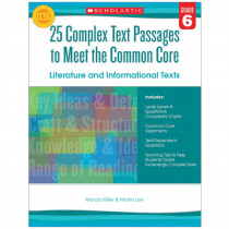 SC-557712 - Gr 6 25 Complex Text Passages To Meet The Cc Literature & Info Text in Leveled Readers