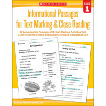 SC-579377 - Gr 1 Informational Passages For Text Marking & Close Reading in Comprehension