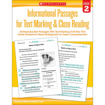 SC-579378 - Gr 2 Informational Passages For Text Marking & Close Reading in Comprehension